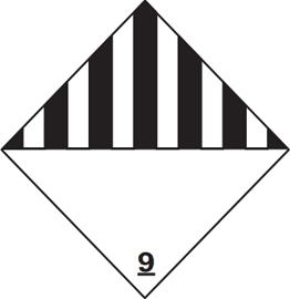 Class 9 Hazard Label Delivery Page