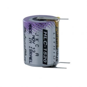 Tadiran Lithium 1520A (3.6V) Tagged HLC (Polarised Pins)