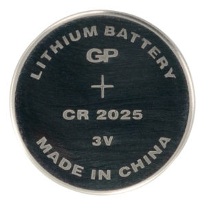 GP Batteries CR2025 Lithium Coin Cell Battery