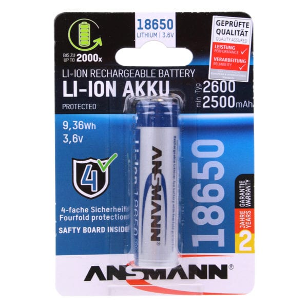 Ansmann Li-Ion 18650 Rechargeable Battery
