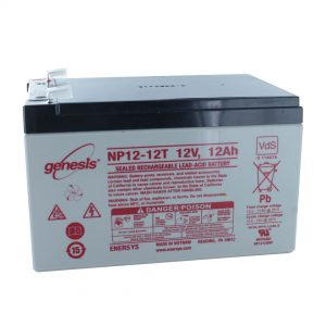 EnerSys NP12-12WT Wide Terminal Rechargeable Sealed Lead Acid Battery