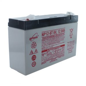 EnerSys NP12-6T Wide Terminal Rechargeable Sealed Lead Acid Battery