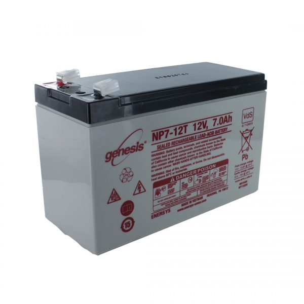 EnerSys NP7-12T Wide Terminal Rechargeable Sealed Lead Acid Battery