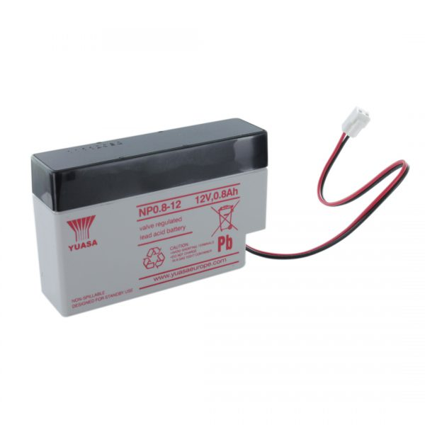 Yuasa NP0.8-12 Rechargeable Sealed Lead Acid (SLA) Battery