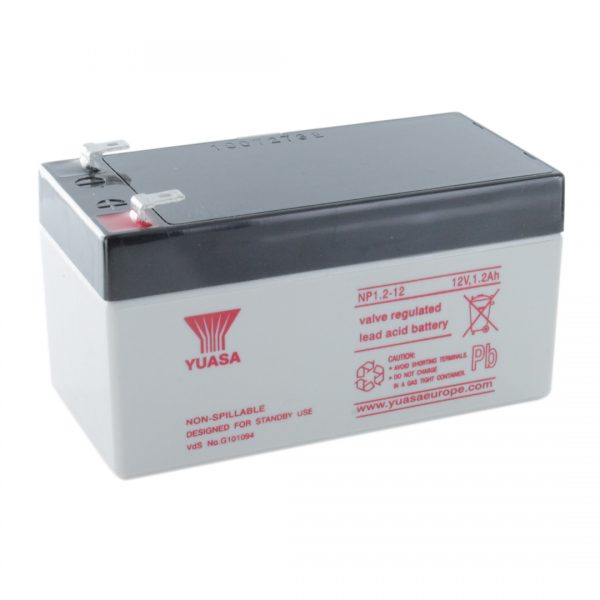 Yuasa NP1.2-12 Rechargeable Sealed Lead Acid (SLA) Battery