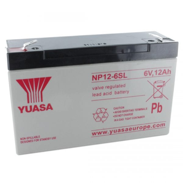 Yuasa NP12-6 Rechargeable Sealed Lead Acid (SLA) Battery