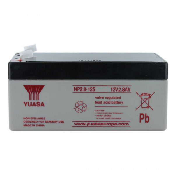 Yuasa NP2.8-12 Rechargeable Sealed Lead Acid (SLA) Battery