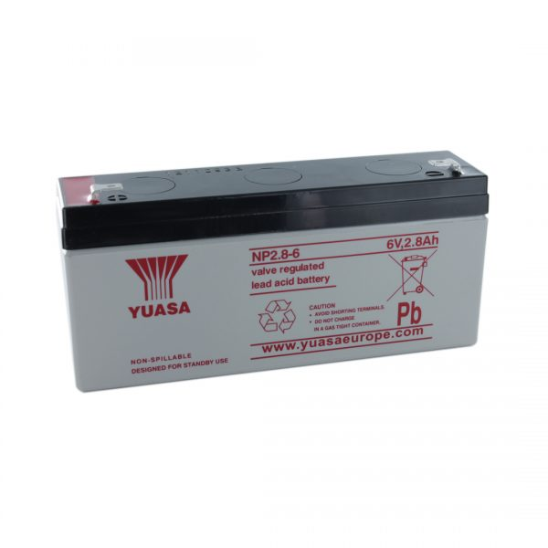 Yuasa NP2.8-6 Rechargeable Sealed Lead Acid (SLA) Battery