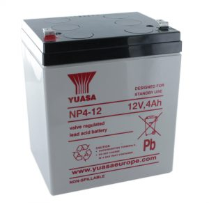 Yuasa NP4-12 Rechargeable Sealed Lead Acid (SLA) Battery