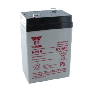 Yuasa NP4-6 Rechargeable Sealed Lead Acid (SLA) Battery