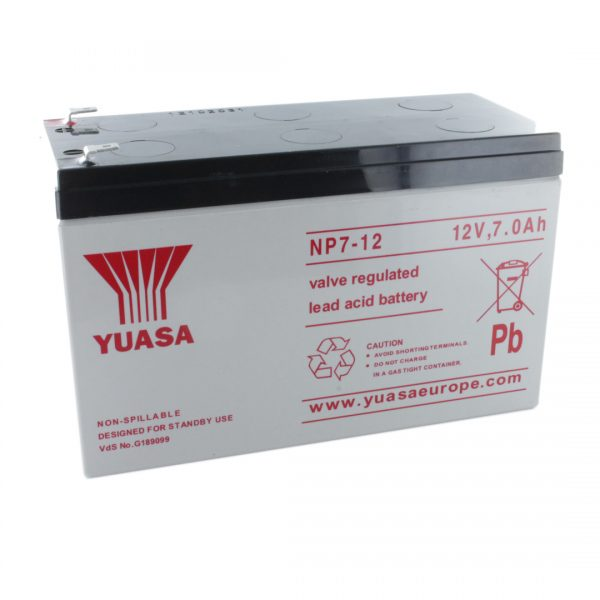 Yuasa NP7-12 Rechargeable Sealed Lead Acid (SLA) Battery