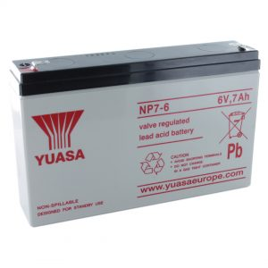 Yuasa NP7-6 Rechargeable Sealed Lead Acid (SLA) Battery