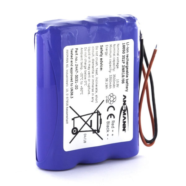 Ansmann Standard Li-ion 3S1P 10.9V / 3500mAh Battery Pack
