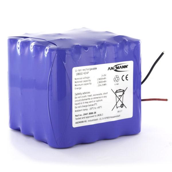 Ansmann Standard Li ion 4s4p 14.8v 13800mah Battery Pack Block
