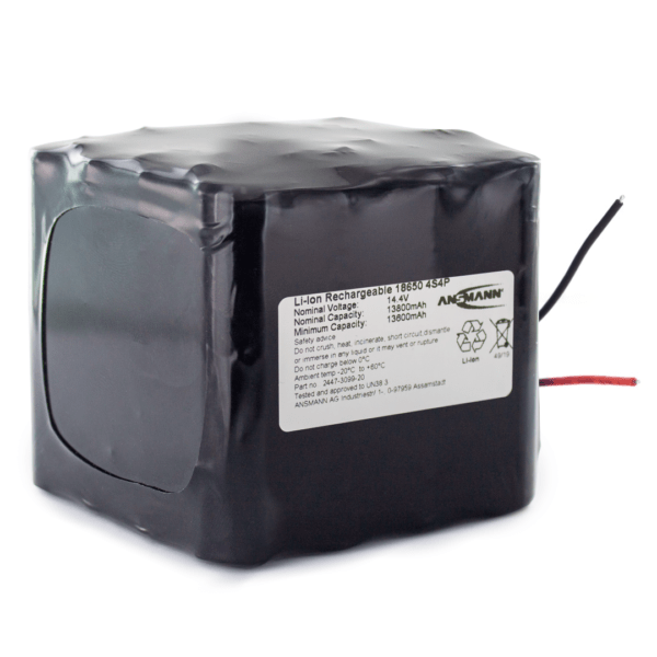 Ansmann Standard Li-ion 4s4p 14 8v 13800mah Battery Pack Block Black