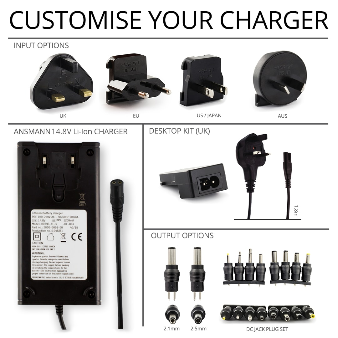 Ansmann 148v 12a Lithium Ion Battery Charger Cell Pack Solutions Simple And Utility Circuit Powersupply 12
