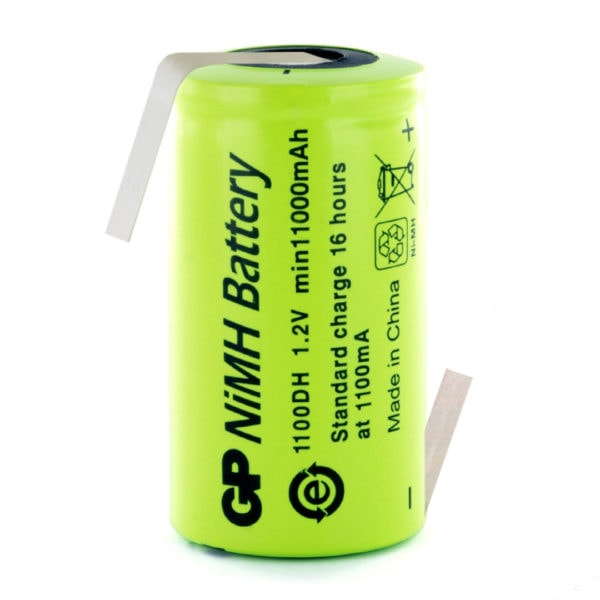 GP Batteries GP1100DHHB D Opposite Tagged Battery