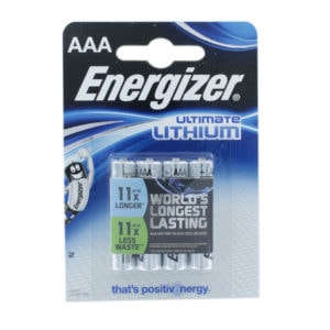 Energizer Ultimate Lithium AAA Batteries | Pack of 4