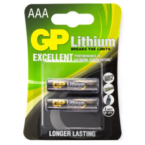 GP Batteries Lithium AAA Batteries | Pack of 2