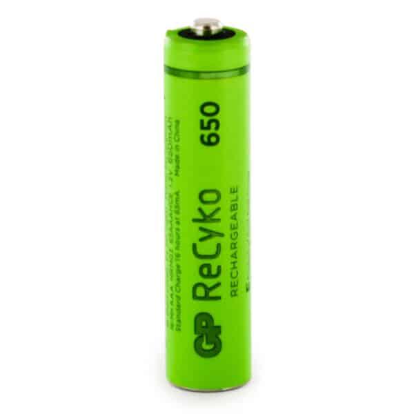 GP Batteries ReCyko+ 650mAh AAA Rechargeable Batteries