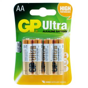 GP Batteries Ultra Alkaline 4 x AA Batteries