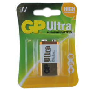 GP Batteries Ultra Alkaline PP3 (9V) Batteries | Pack of 1