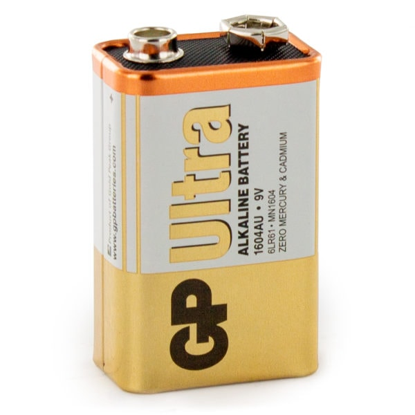 GP Batteries Ultra Alkaline PP3 (9V) Batteries