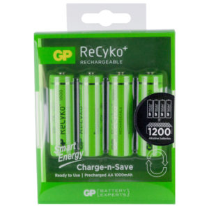 GP Batteries ReCyko+ 1000mAh AA Rechargeable Batteries | Pack of 4