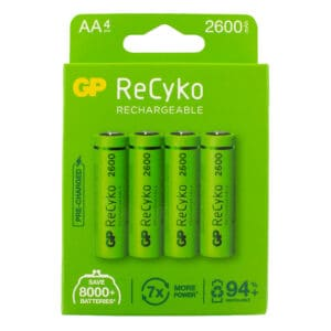 GP Batteries ReCyko+ 2600mAh AA Rechargeable Batteries | Pack of 4