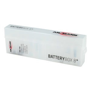 Ansmann Battery Box (Stores 8 AAA or AA Batteries)