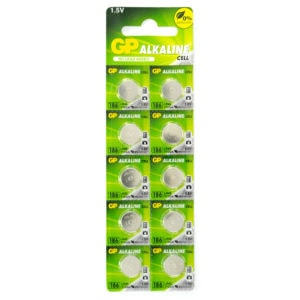 GP Batteries Alkaline Button 186 Batteries | Pack of 10