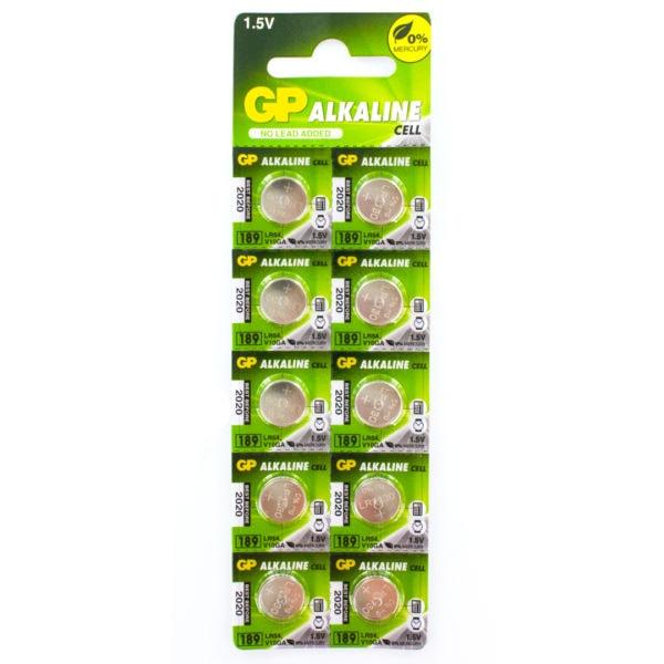 GP Batteries Alkaline Button 189 Batteries | Pack of 10