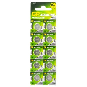 GP Batteries Alkaline Button 191 Batteries | Pack of 10