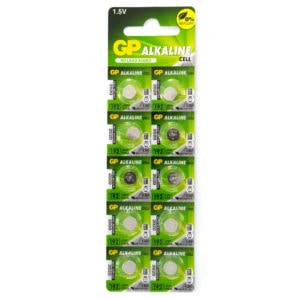 GP Batteries Alkaline Button 192 Batteries | Pack of 10