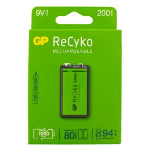 GP Batteries ReCyko+ 200mAh PP3 (9V) Rechargeable Battery