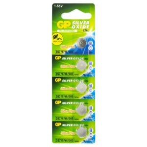 GP Batteries Silver Oxide 357 Batteries | Pack of 5