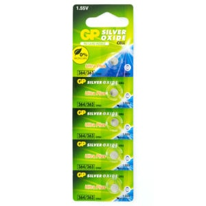 GP Batteries Silver Oxide 364 Batteries | Pack of 5