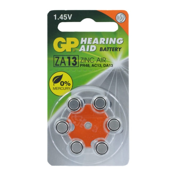 GP Batteries Size 13 Hearing Aid Batteries | Dial of 6