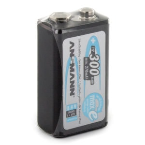 Ansmann maxE PP3 (8.4V) 300mAh Rechargeable Battery