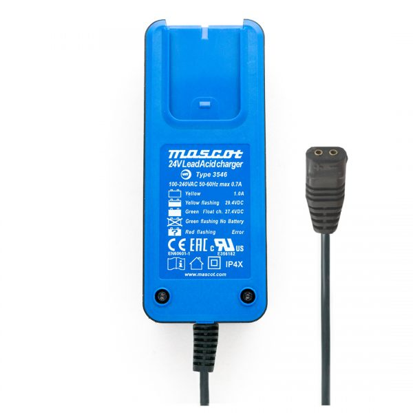 Mascot Blueline 3546 LA 24V 1A Lead Acid Charger