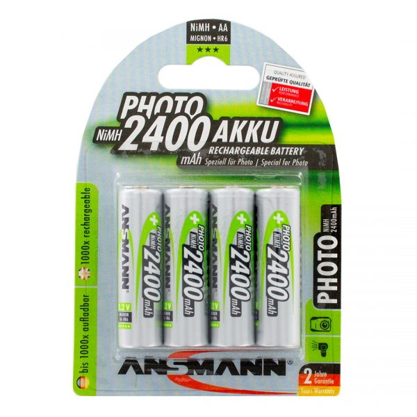 Ansmann Photo AA 2400mAh Rechargeable Batteries | Pack of 4